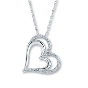 Kay Jewelers 1/4 Ct Heart Necklace